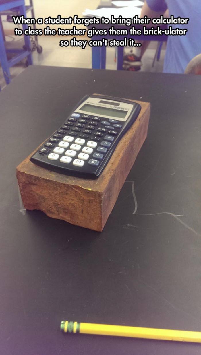 When you forget your calculator...
