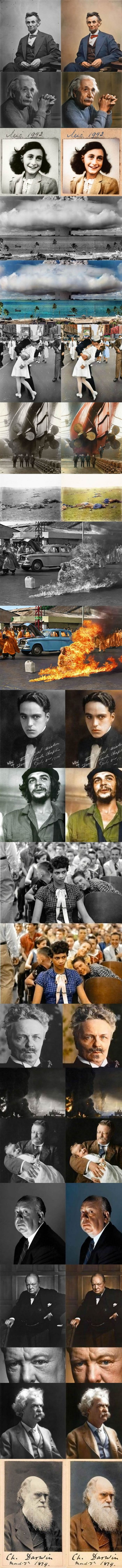 Famous Pictures Colorized