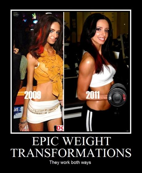 Epic Weight Transformation - They work both ways