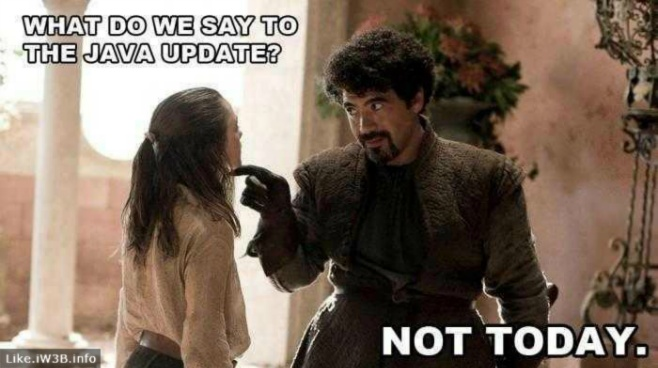 What Do We Say To The Java Update?