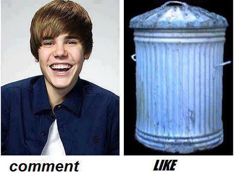 Justin Bieber vs trash can