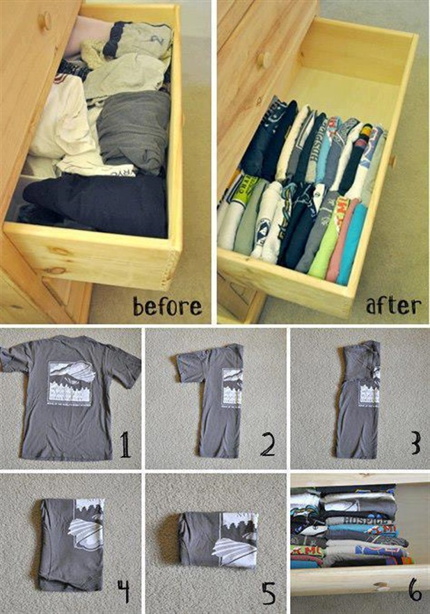 Simple And Well Organized T-shirts In The Draw
