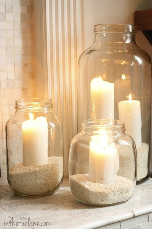Vintage Jar Hurricanes - DIY Project