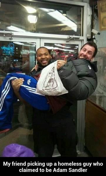Adam Sandler - the homeless guy!