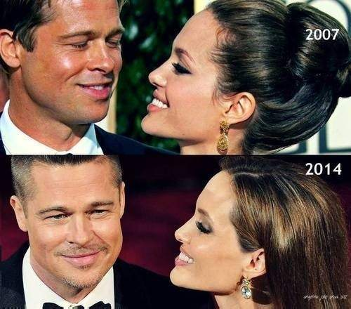 Angelina Jolie and Brad Pitt 2007-2014