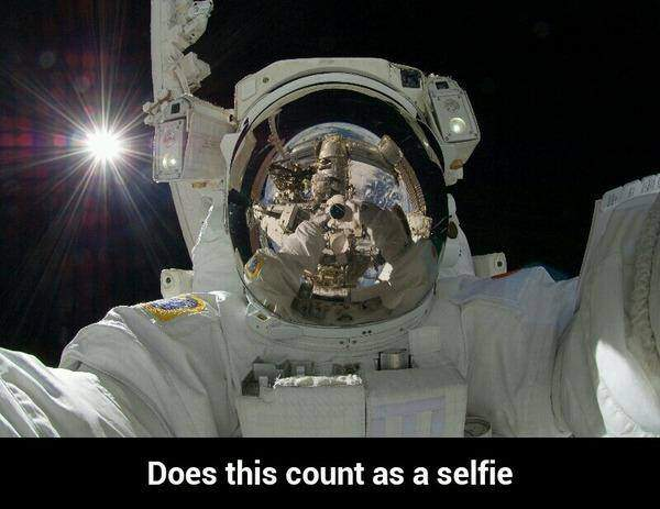 Astronaut -  Does this count as a selfie?