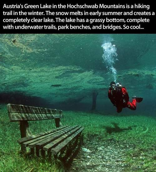 Austria's Green Lake in the Hochschwab Montains...