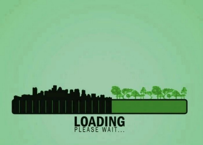 Loading pleas wait Pollution vs Nature