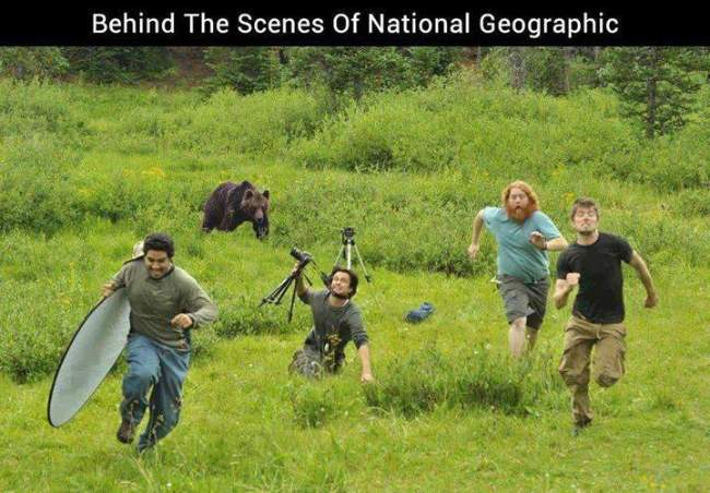 Behind the scenes of the National Geographic