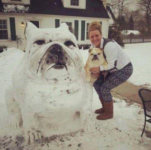 Big snow dog replica