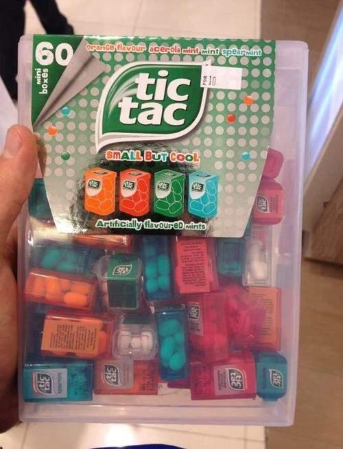 big tic tac with 60 little tic tac s   9buz
