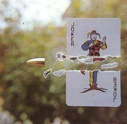Bullet and Joker card