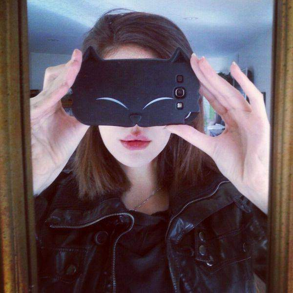 Cat phone cover for perfect selfie!
