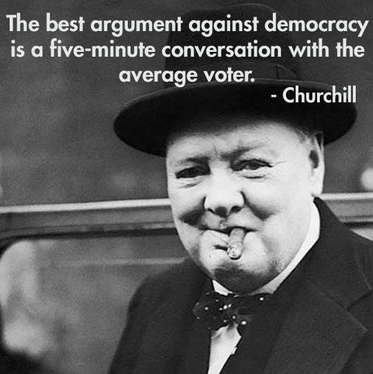 Churchill - The best argument against democracy..