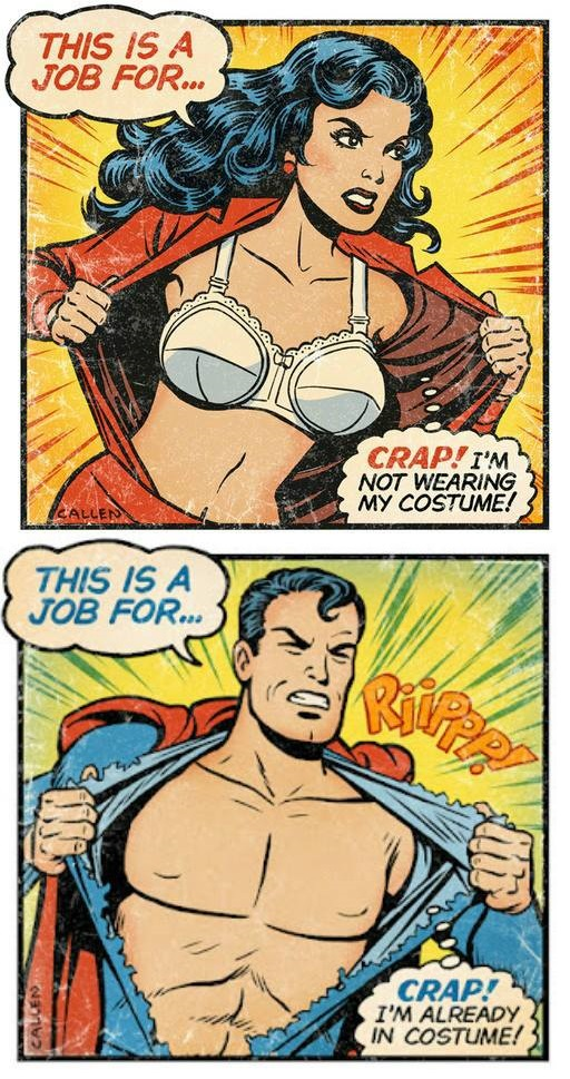 Comic - This is yob for.. Crap! I'm not wearing my costume ! Crap ! I'm already in Costume !