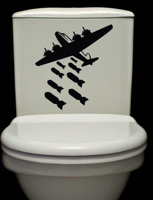 Bombs Away in Toilet