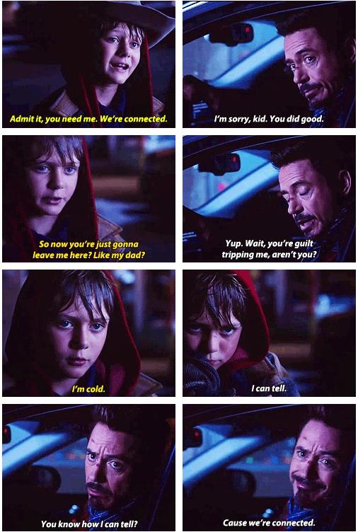 Iron Man 3 : Quotes - Harley Keener and Tony Stark