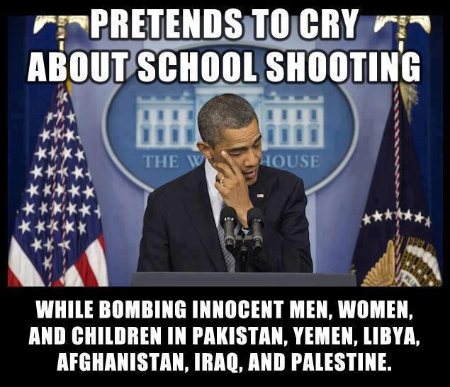 Pretends To Cry About School Shooting