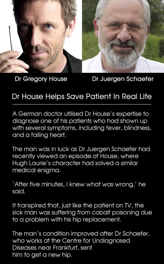 Dr House Helps Save Patient In Real Life