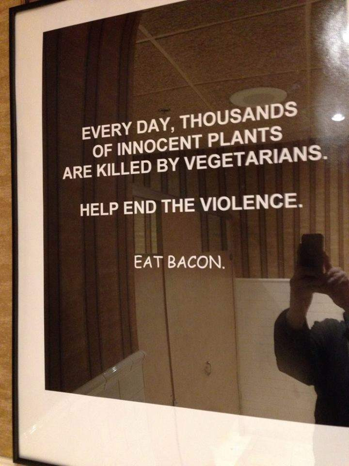 Every day, thousands of innocent plants are killed by vegetarians.