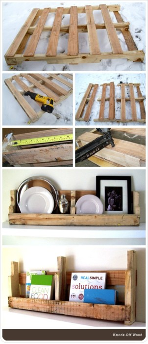 Shelves From Pallets - DIY Project