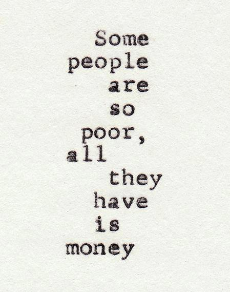 People and money