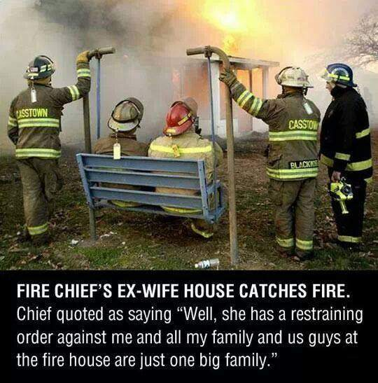 Fire Chief's Ex Wife House Catches Fire.