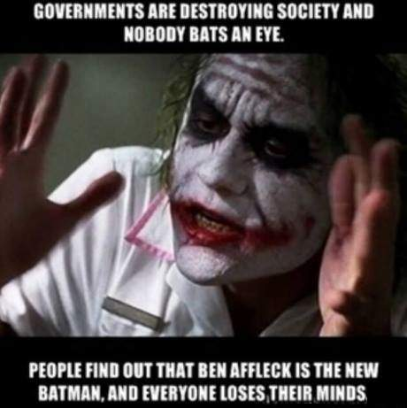 Governments are destroying society and nobody bats an eye.