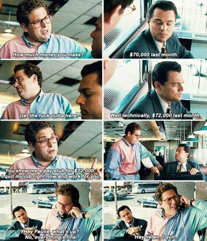 How To Quit Your Job The Wolf of Wall Street Style
