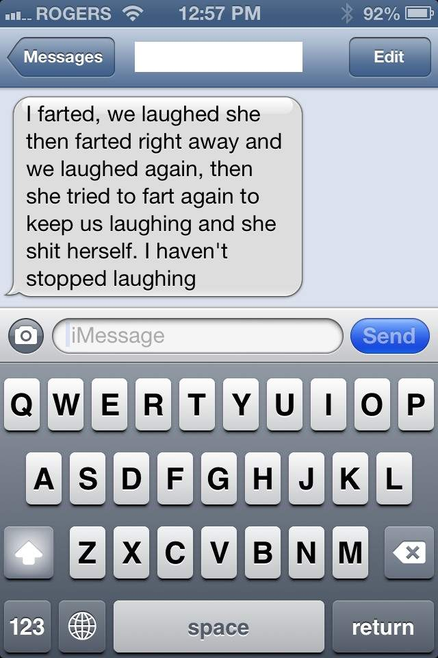 I left my husband with our 1.5 year old for a couple hours and he taught her about the comedic value of farts.
