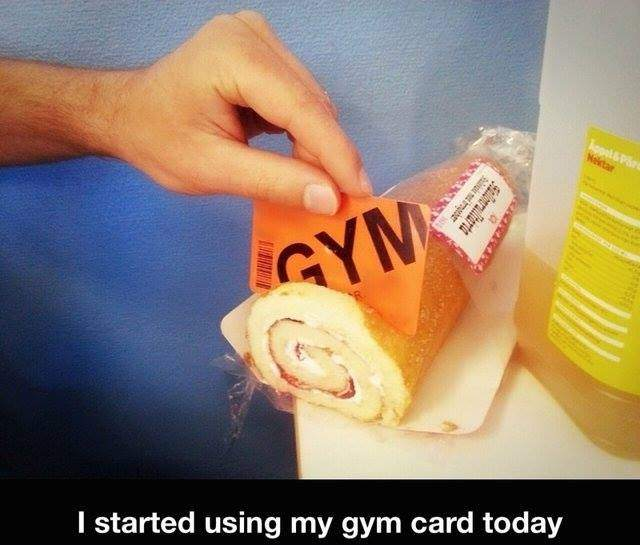 I started using my gym card totay.