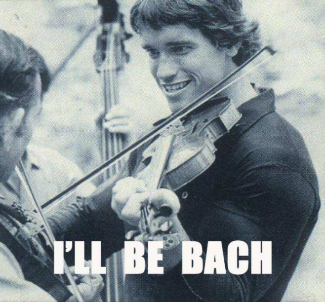 I'll Be Bach -  Arnold Schwarzenegger playing violin in movie Stay Hungry