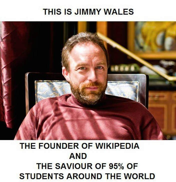 Jimmy Wales the founder of Wikipedia