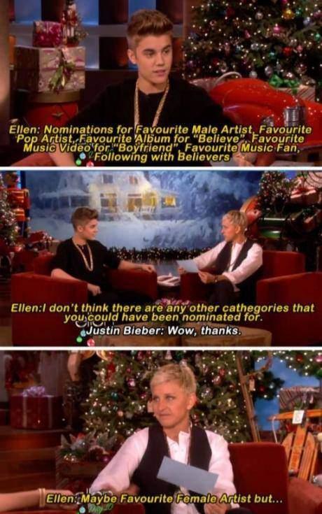 Justin Bieber owned by Ellen DeGeneres - 9buz