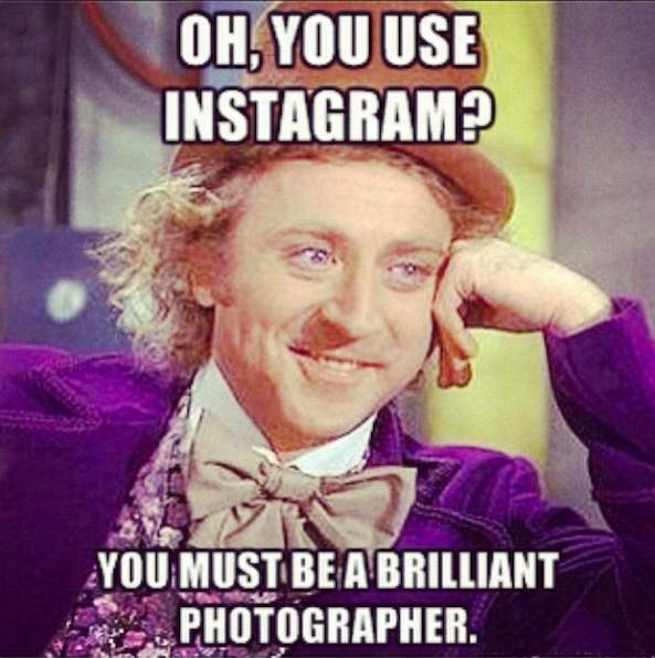 Oh, you use Instagram?