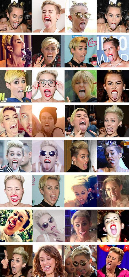 Photos of Miley Cyrus lately.