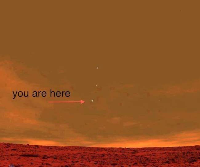 Picture from the Curiosity Rover on Mars.