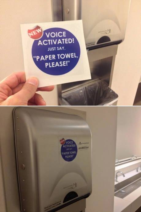 Prank - Voice activated paper towel