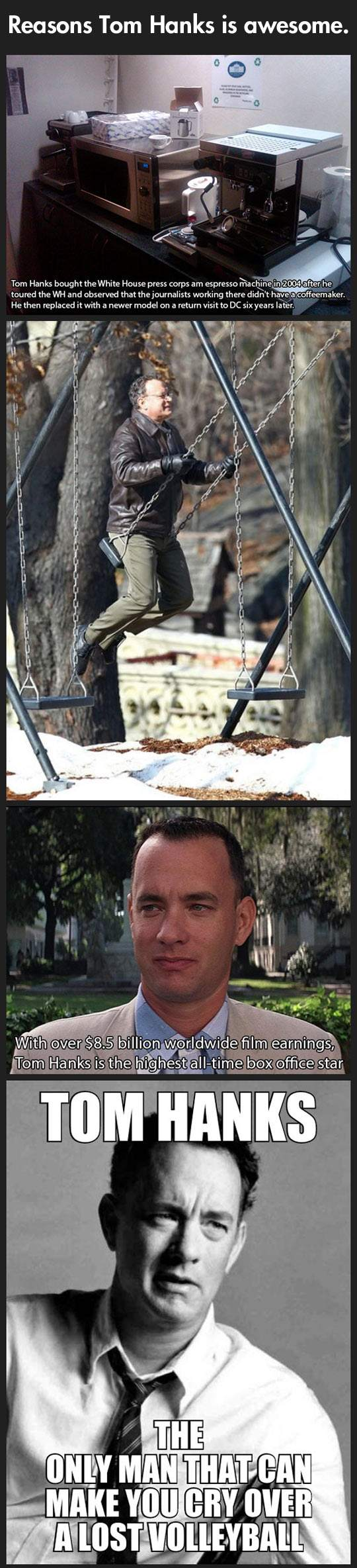 Reasons Tom Hanks is awesome.