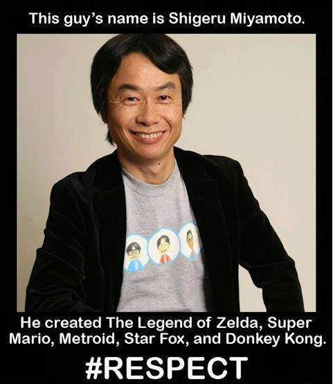 Sihigeru Miyamoto created The Legend of Zelda, Super Mario, Metroid, Star Fox, and Donkey Kong.