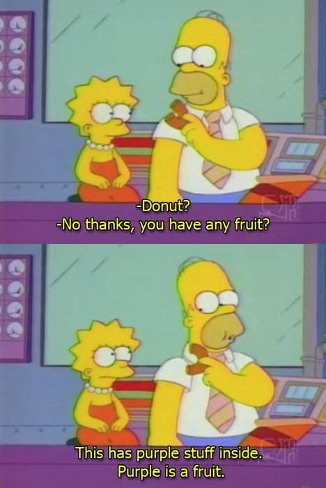 Simpsons - Donut? No thanks, you have any fruit?