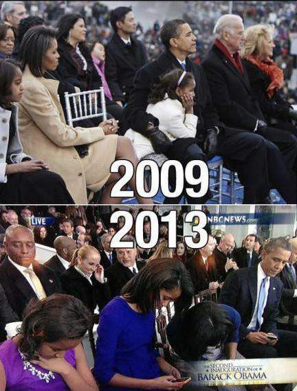 Smartphones changed the world and Obama family!