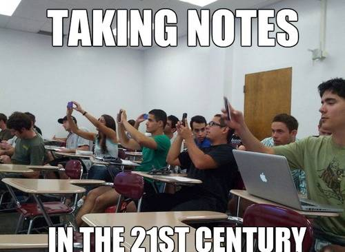Taking notes in the 21st century