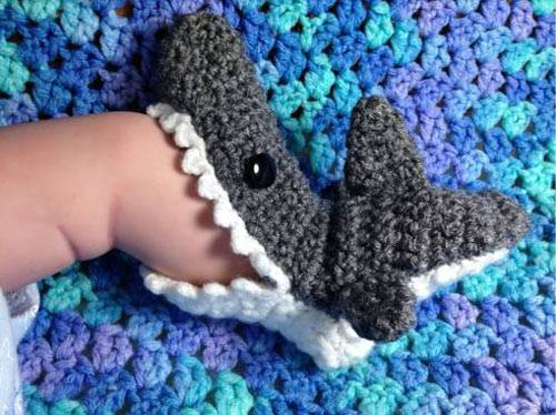 The Cutest Shark Booties.