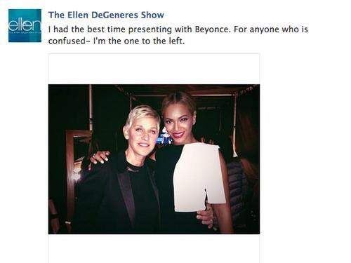 The Ellen DeGeneres and Beyonce