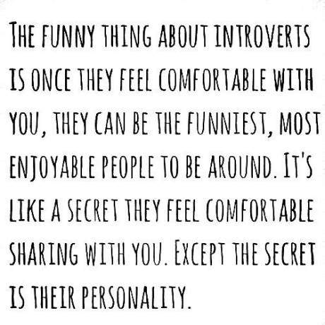 The Funny thing about introverts...