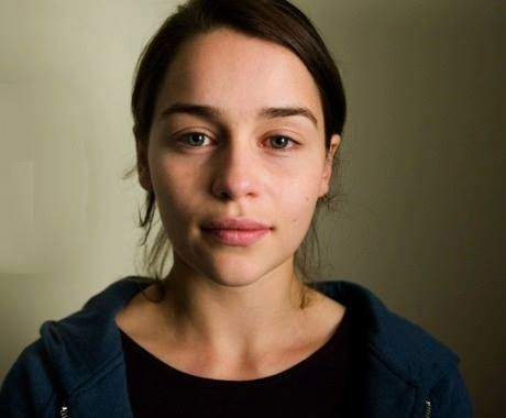The Khaleesi (Emilia Clarke) from Game of Thrones without makeup