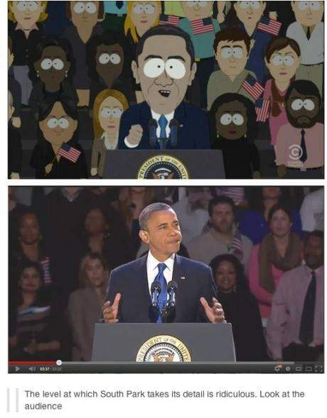 The level at which South Park takes its detail is ridiculous.