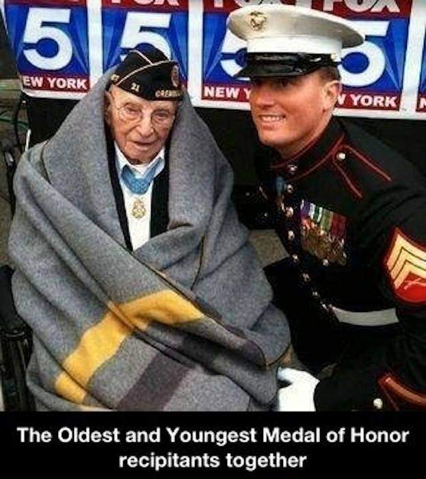 The Oldest and Youngest Medal of Honor recipitants together