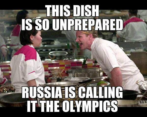 This Dish is so unprepared Russia is calling it The Olympics